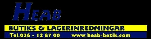 HEAB Butiks & Lagerinredning AB - Logotype