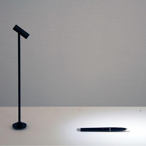 Minispotlight för glasbord
