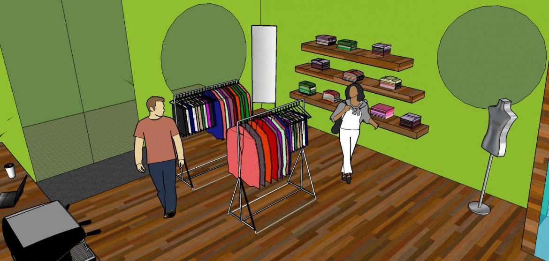 Showroom i butiken