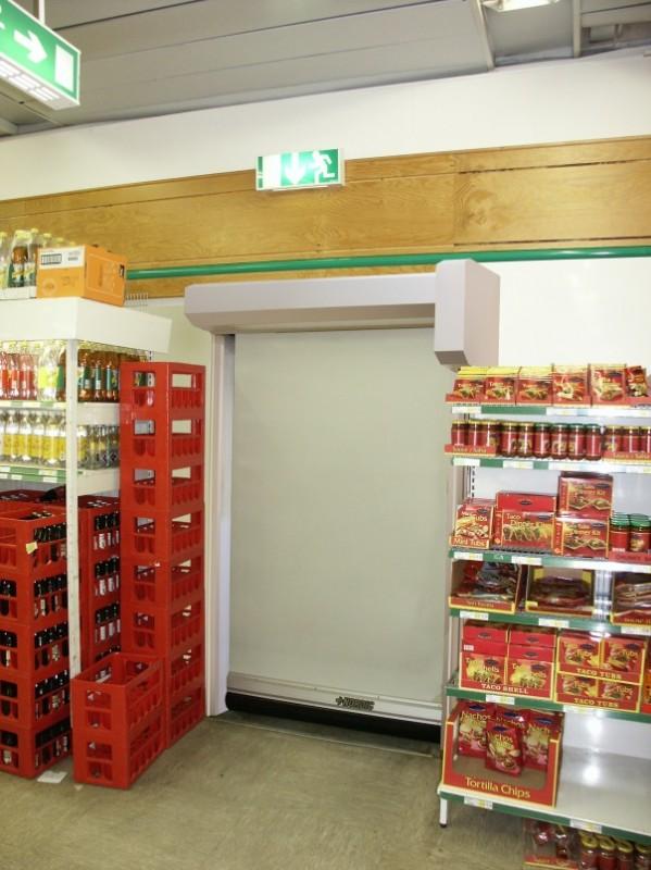 Automatiska portar till matbutiker